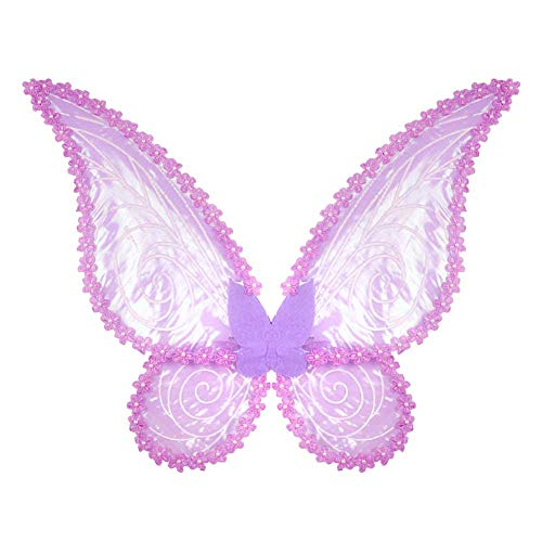Und Freund Kostüm Teufel Engel - GLXQIJ Prinzessin Kind Kinder Mädchen Engel Fee Schmetterlingsflügel Halloween Kostüm Party Kostüm,Purple,56 * 80CM