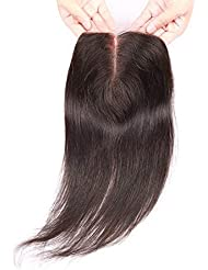 "BLISSHAIR Lace Frontale Closure Bresilienne Extensions Humains cheveux naturel 2""X 6"" Droit 8inch"
