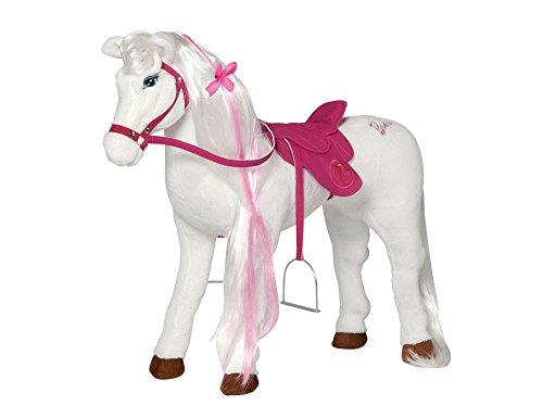 """Spielzeug Pferd Mattel Barbie-Pferd \""""MAJESTY\"""", mit Sound inkl. Putzbox befüllt für Kinder, rosa und extra 2 in 1 Pferdedecke"""