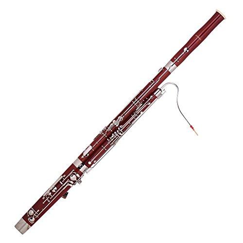 ammoon C Key Fagott Ahorn Holz Körper Cupronickel Silber überzogene Tasten Holzblasinstrument mit Reed Handschuhen Reinigungstuch Tragetasche