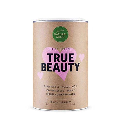 Natural Mojo True Beauty - Superfood Pulver natürlich, vegan, glutenfrei und laktosefrei u.a. mit Granatapfel, Kokos, Goji, Johannisbeere, Bambus, Traube, Zink und Mangan (Haut Pulver Trauben)