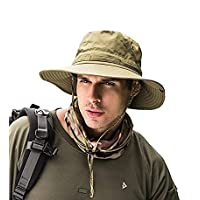 GUSTAVE Fishing Hat Summer Sun Bonnie Hat UPF 50+ UV Protection Wide Brim Cap Waterproof Safari Adventure Camping Hiking Hunting Travel Beach Bucket Hat for Men Women Boys and Girls