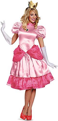 Erwachsene Kostüm Peach Princess Für - Generique - Prinzessin Peach Verkleidung Deluxe für Damen M