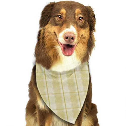 Rghkjlp Yellow Paid Pet Bandana Washable Reversible Triangle Bibs Scarf - Kerchief for Small/Medium/Large Dogs & Cats - Schwarze Fleece Bibs