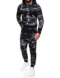 MT Styles ensemble pantalon de sport + sweat-Shirt jogging survêtement camouflage MA-2116