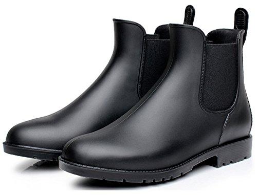 Stivali gomma donna caviglia chelsea uomo rain boot stivaletti pioggia antiscivolo impermeabile scarpe