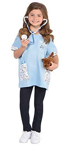 en VET TIERARZT Uniform Beruf Tier Haustier Arzt Rollenspiel 6- teiliges Kostüm Kleid Outfit Satz (Ärzte Uniform)