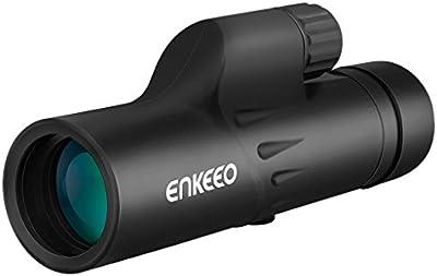 Enkeeo - 8 x 30 Telescopio Monocular Óptico con Trípode Flexible Removable (Multi-revestido, 183mm/1000m campo de visión, observación de fauna, Acampada, Deporte de Puntería, Concierto, Vigilancia)