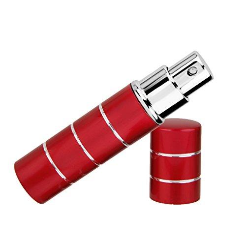 Vaporisateur Voyage Portable Rechargeable Vide Atomiseur de Parfum Flacon de Pulvérisation - Rouge