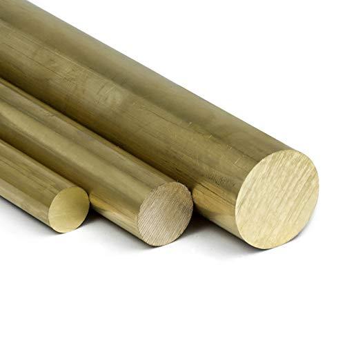 Messing Rundstange Ms58 Ø 20mm | L: 1000mm (100cm) Messingstange auf Zuschnitt