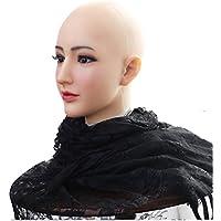 Ajusen Jolies Masques Masques Femme Masque de Noël Halloween Masques Ange Visage Cosplay Mâle à Femelle pour Crossdresser Transgenre Transexuelle