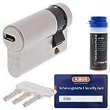 ABUS Profilzylinder Schließzylinder EC660 Halbzylinder mit 3 Schlüssel Größe 10 30 + ToniTec Pflegespray