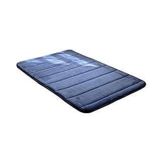 BESTOMZ Alfombrilla de Baño de Espuma de Memoria Antideslizante Suave Espesor para Piso Puerta Suelo Cocina 30 x 50CM (Azul Oscuro)