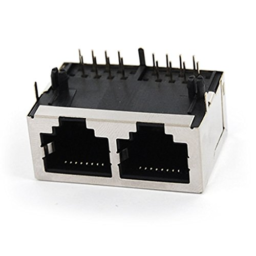 MiKi&Co 59 Serien 2 Hafen RJ45 Netzwerk Komputer Modular PCB Steckdosen Anschluss DE