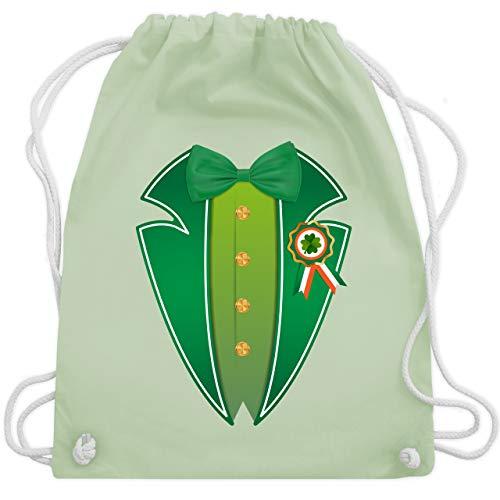 St. Patricks Day - Leprechaun Kobold Kostüm - Unisize - Pastell Grün - WM110 - Turnbeutel & Gym Bag (Paddy's Day Kostüm)