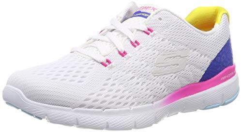 Skechers Damen Flex Appeal 3.0 Sneaker, Mehrfarbig (White Multi Mlt), 41 EU (Schuhe Skecher Damen White)