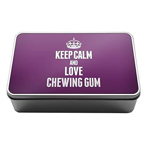 Violet Keep Calm and Love Chewing Gum Boîte de rangement
