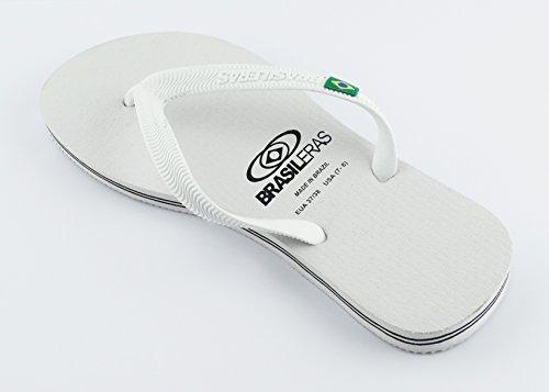 BRASILERAS - M1cla010, cinturini Unisex – Adulto White