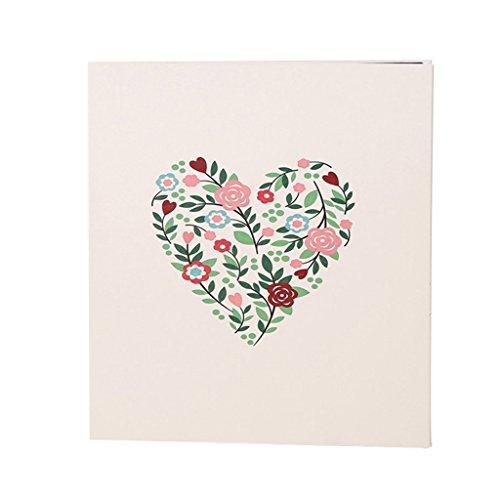 FOOHAO- Album photo bricolage auto-adhésif, Albums souvenir famille Couple, fleurs amour PU couverture, 20 Pages (40 Surface) Pages intérieures (taille : Les petites)