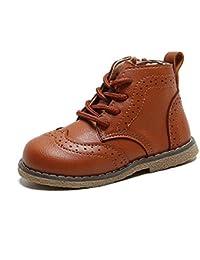 Botas de Nieve para niños 2020 Zapatos de algodón de otoño e Invierno niños y niñas Botines Antideslizantes Impermeables Botas de Cuero para niños Zapatos para bebés y niños pequeños