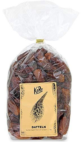 Datteln Deglet Nour   Entsteint   Naturbelassen   Ungeschwefelt Und Zuckerfrei   1 kg Packung   KoRo   Vorteilspackung