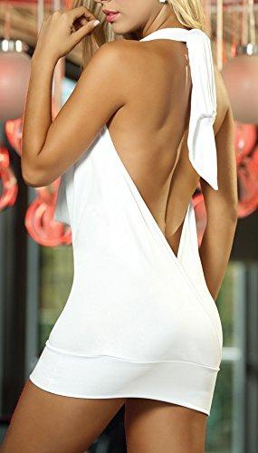 Shangrui Donna di La serie Uniform Halterneck Club Wear Bianco