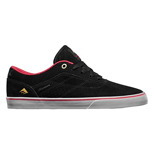 Emerica Herman G6 Vulc, Chaussures de Skateboard homme Black/Red/Grey