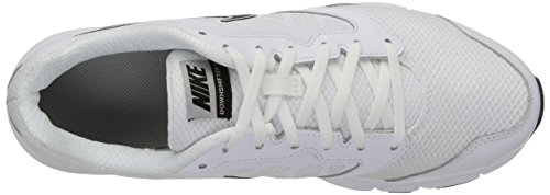 Nike Downshifter 6, Chaussures de Running Compétition Homme Blanc (White/Black Metallic Silver)