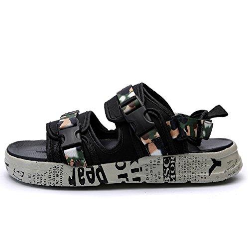 Schuhe 39 Strap Strand Gr枚脽e Hausschuhe Pantoffeln Toe H Camo G眉rtelschnalle M盲nner Sandalen Sandalen 44 Open Outdoor Sommer Mastery Herren SxwaqzR
