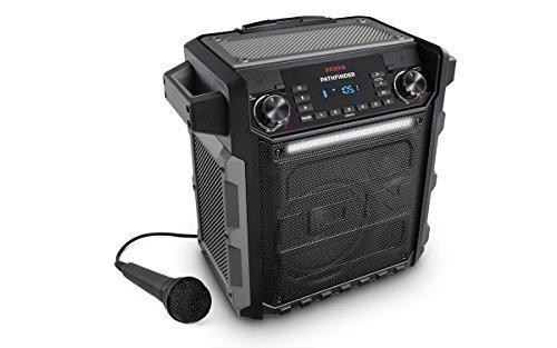 ION Audio Block Rocker Sport - Altoparlante Amplificato Impermeabile Portatile da 100 W con Batteria Ricaricabile, Bluetooth, Microfono, Radio AM/FM, Barra Luminosa e Ingresso Aux
