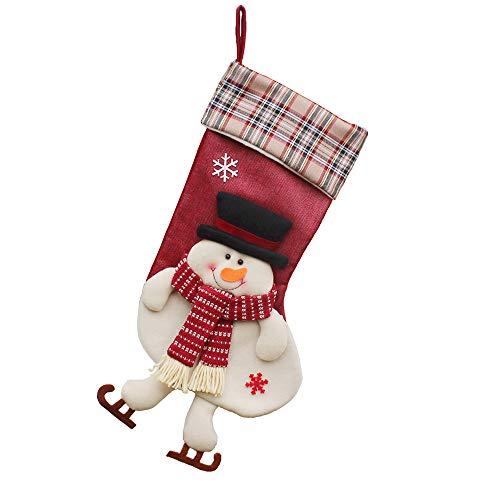 LILICAT Sac de Bonbons Cadeaux de Noël Arbre Ornement Bas Père Noël Bonhomme De Neige Chaussette Décor Décoration de La Maison De Noël Chaussette Sac Cadeau