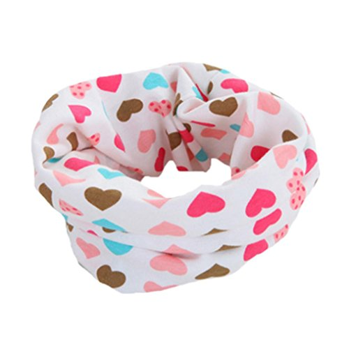Saingcae Herbst Winter Jungen Mädchen Baby Schal Baumwolle O Ring Hals Schals Scarf Scarves (Rosa)