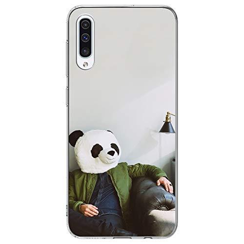 Borlifes Kompatibel mit Samsung Galaxy A50 Telefonabdeckung Innovative Muster-Anti-Fingerabdruck-Schutzhülle für das Galaxy A50 - Panda Head / 10