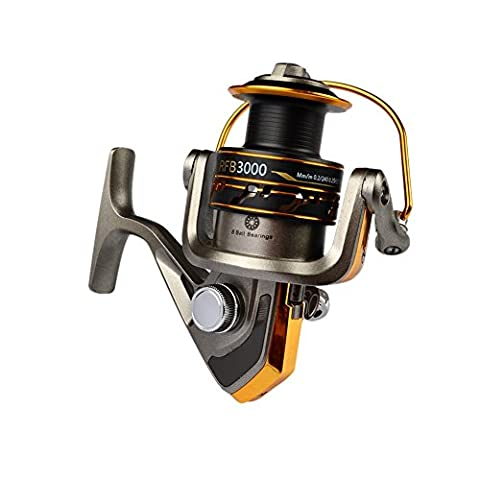 Amazmall Baitfeeder Spinning Aluminum Spool Handle 5.5:1 Strong Corrosion Resistance Fishing Reel