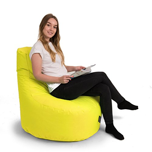 BuBiBag Gamer Kissen Lounge Sitzsack Sessel original Sitzkissen In & Outdoor geeignet fertig befüllt in 31 Farben (gelb) - 2