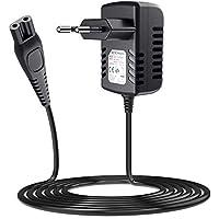 SoulBay 15V Philips Razor Caricatore per Philips Norelco HQ8505 9700 7000 5000 3000 Series Trimmer Barba, Multigroom, Precision, Bodygroom, Arcatec, Aquatec Rasoio Alimentatore Cavo Adattatore