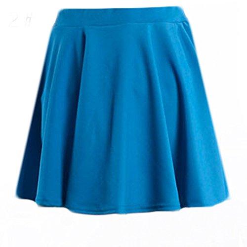 IZHH Damen Tüllrock Reine Farbe Hohe Taille Falten halben Body Rock Unterkleid Minirock Weihnachten Kleid Tüllrock Damen ()