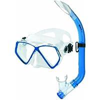 Mares Zephir Junior - Set da snorkeling, per bambini, Blu (blu), Taglia unica - Junior Snorkel Set