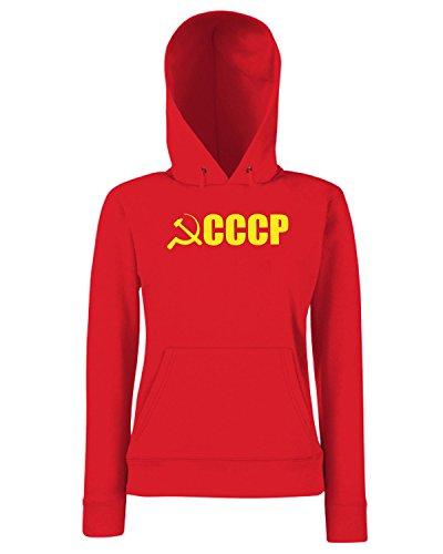 T-Shirtshock - Sweats a capuche Femme TCO0007 falce e martello comunismo cccp Rouge