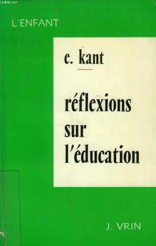 Reflexions sur l'education