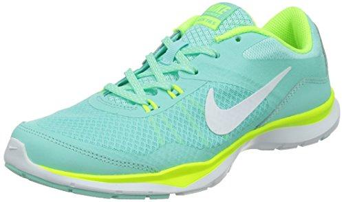 Nike Damen Flex Trainer 5 Hallenschuhe Türkis (Artisan Teal/White-Volt-Light Aqua) 36.5 EU