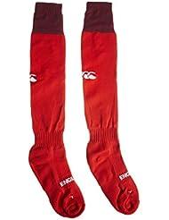 Canterbury England Alternate - Calcetines para hombre, color rojo, talla L