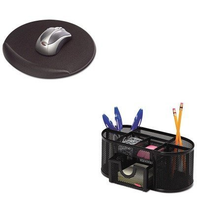 kitkcs50155rol1746466-value-kit-kelly-computer-supplies-viscoflex-memory-foam-oval-mouse-pad-kcs5015