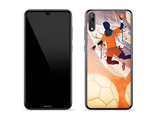 Hülle für Huawei Y7 (2019) - Hülle Fantastic Case - Handball Handyhülle Schutzhülle Etui Case Cover Tasche für Handy