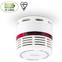 Detector de Humo con Sensor Fotoeléctrico Alarma de Incendio con Batería de 10 Años Duración Instalación