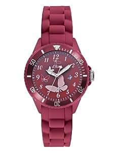 s.Oliver Mädchen-Armbanduhr Analog Quarz Silikon SO-2594-PQ