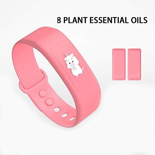 Wristband Adult Mückenschutz Armband, festes Silikon, geeignet für Schwangere, Säuglinge und Kinder, Sommer Outdoor Mückenschutz Armband,Pink01