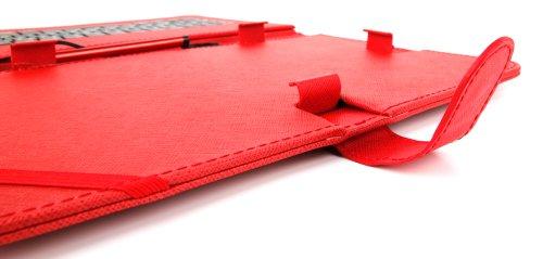 10 Zoll Hülle mit QWERTZ-Tastatur für SAMSUNG Galaxy Tab 4 10.1 (SM-T535) Tablet PCs (ROT) - 6