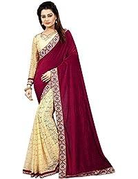 G Stuff Fashion Women Velvet saree With Blouse Piece_saree_Maroon Velvet_saree