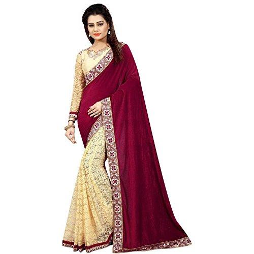 TexStile sarees womens Velvet sarees Party wear Designer Sarees with Blouse Pieces